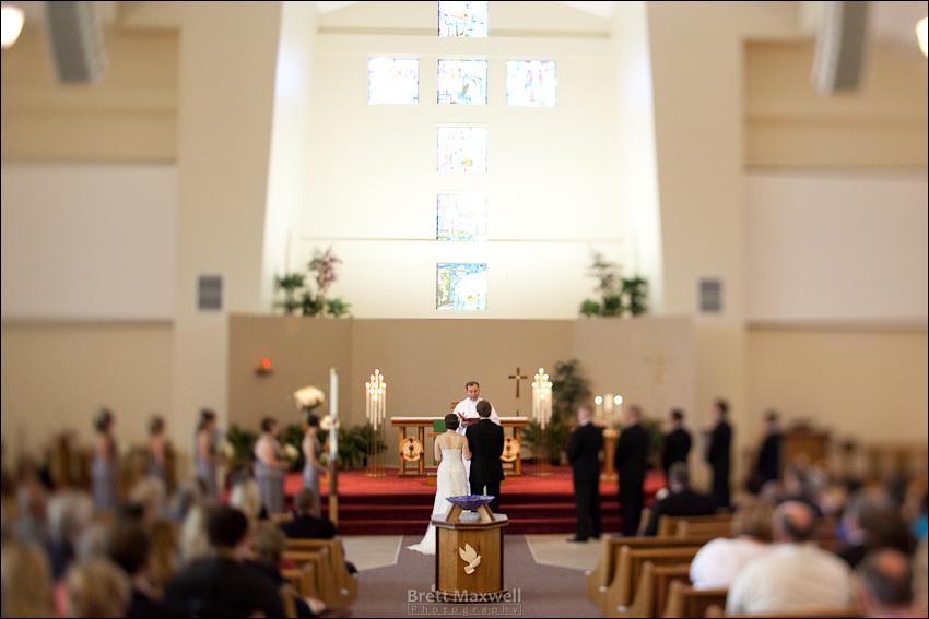 wedding ceremony, lutheran church, lansing, michigan