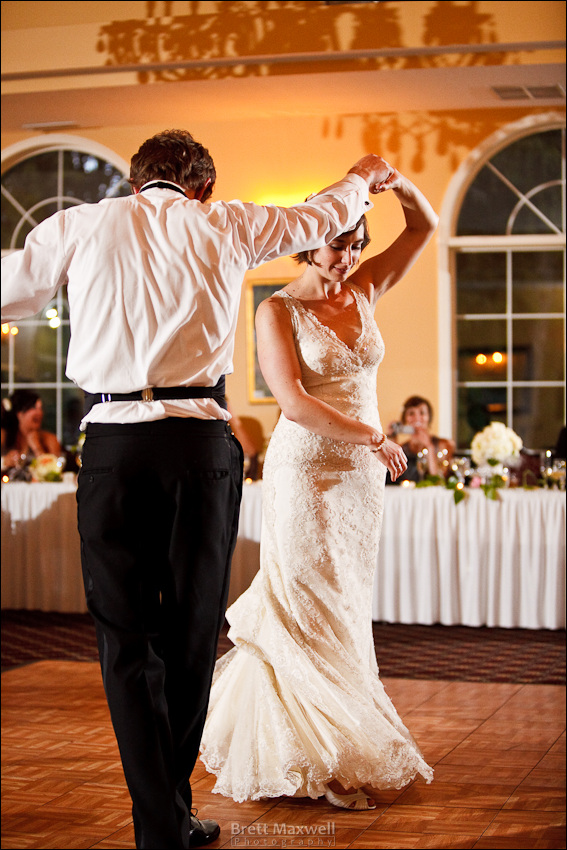 first dance, bride and groom, english inn, eaton rapids, michigan