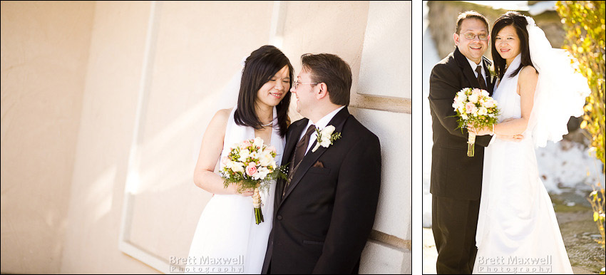 wedding photography of bride and groom at the english inn