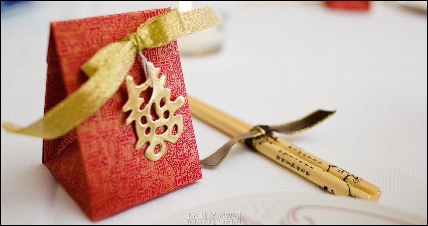 wedding favors and chopsticks