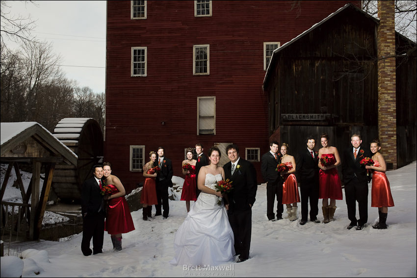 wedding party winter photo