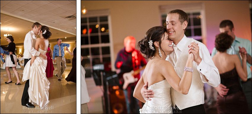 photos of wedding reception at eagle eye in east lansing