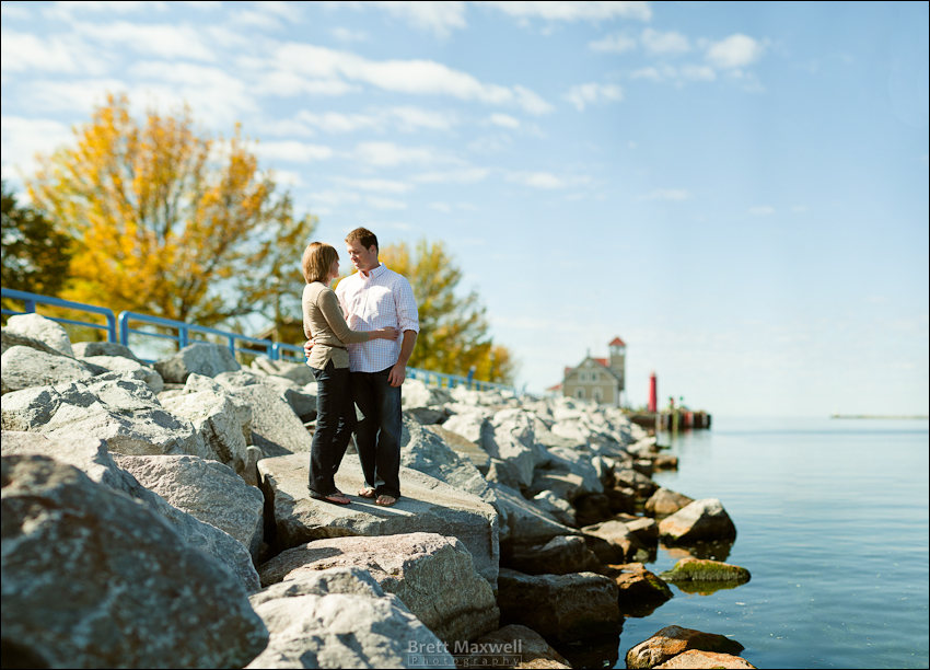 muskegon engagement photos at lake michigan