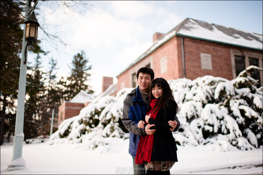 MSU winter engagement photos