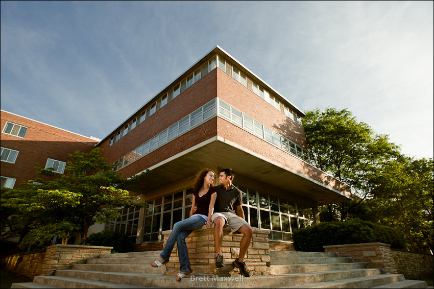 MSU engagement photos at michigan state university