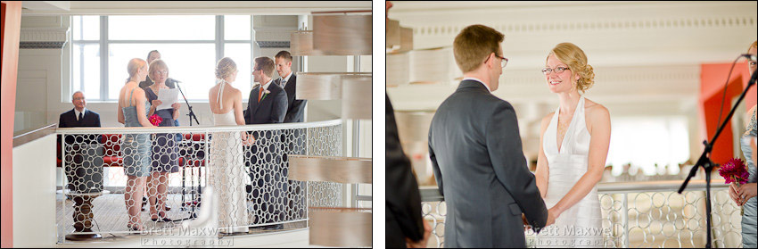 dad walks daughter up stairs for wedding in grand rapids